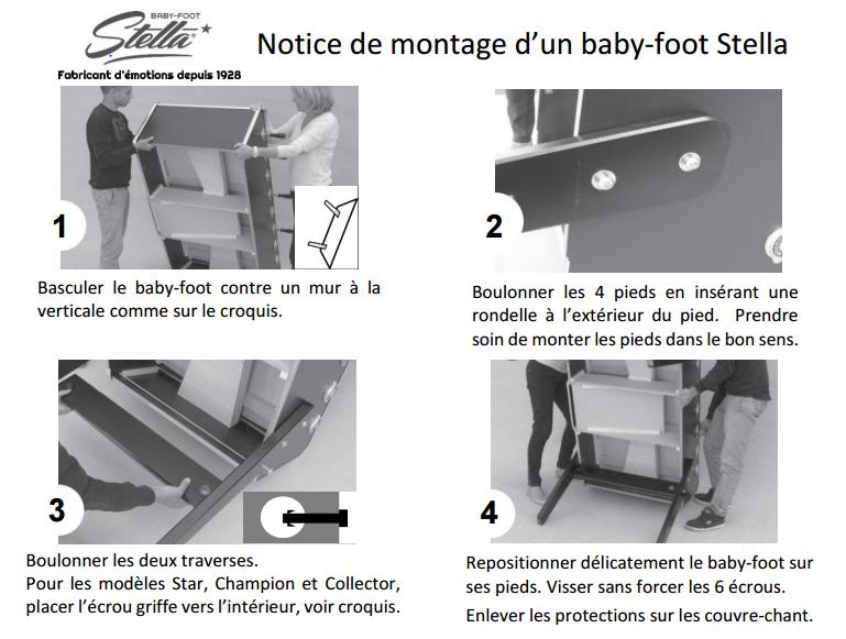 Notice de montage baby-foot Stella